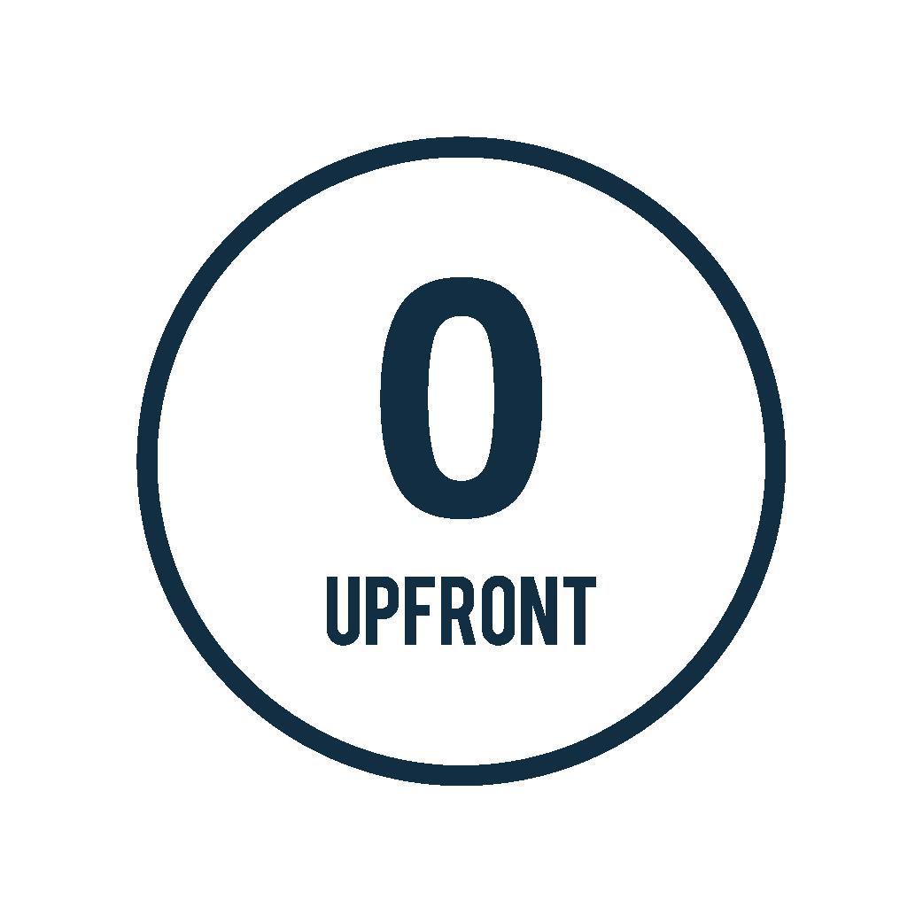 Zero Upfront Fees