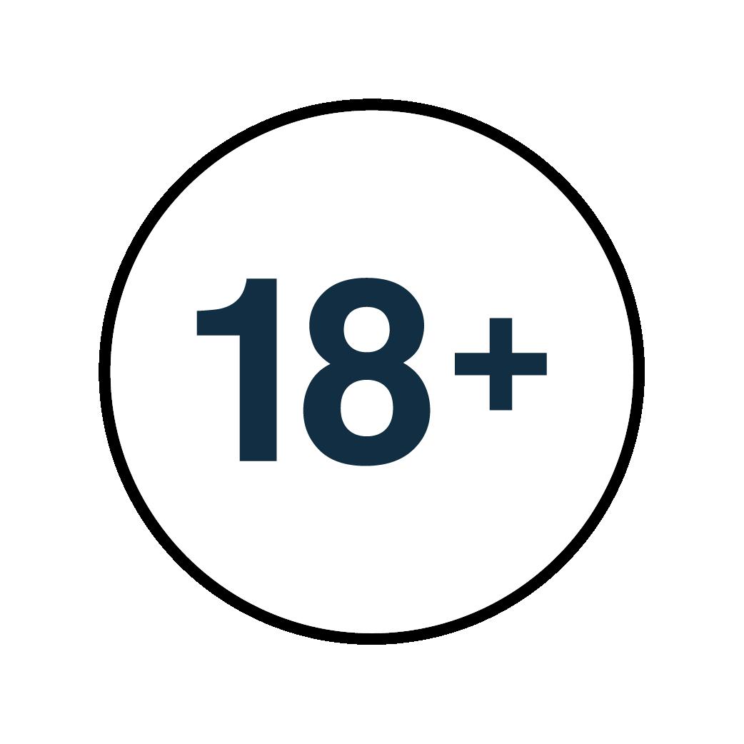 above 18